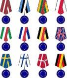 Set europejscy medale Fotografia Royalty Free