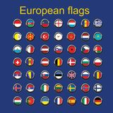 Set euroupe flags Royalty Free Stock Photo