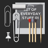 Set of everyday stuff -  Stock Image