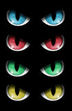 Set of evil eyes Stock Photography