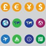 Set ewidencyjne ikony w płaskim projekcie Obrazy Stock