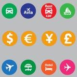 Set ewidencyjne ikony w płaskim projekcie Fotografia Stock