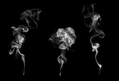 Set of 3 examples of smoke Royalty Free Stock Photography