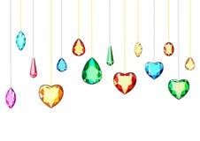 A set of exclusive diamonds vector illustration