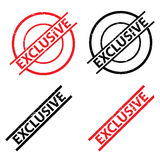 Set of exclusive stamps Royalty Free Stock Image