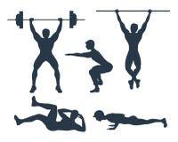 Set of exercises. royalty free illustration