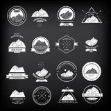 Set of expedition badges. Vector illustration. Stock Photo