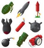 Set of Explosive Icons Stock Photos