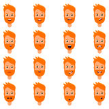 Set of expression of blonde man Royalty Free Stock Images