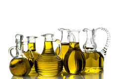 Set of extra virgin olive oils Royalty Free Stock Image