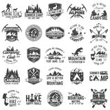 Set of extreme adventure badges. Concept for shirt or logo, print, stamp or tee. Stock Photos