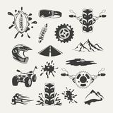 Set of extreme sports emblems, badges, labels Stock Photography