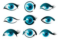Set of Eye Stock Photos