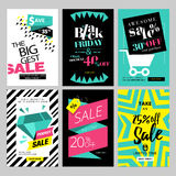 Set of eye catching web banners for shopping. Sale, product promotion, clearance. Vector illustrations for social media banners, posters, email and newsletter Royalty Free Stock Images