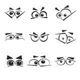 Set of eye emotions, isolated on the white background. Royalty Free Stock Image