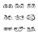 Set of eye emotions, isolated on the white background. Royalty Free Stock Images