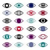 Set of Eye Icons Royalty Free Stock Photography