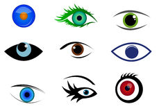 Eye logos and icons Royalty Free Stock Image