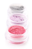 Set of eye shadows Stock Photography