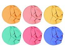 Set of eye shadows isolated on white isolated on white. Set of eye shadows isolated on white isolated on white royalty free stock images