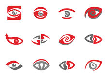 Set of eye symbols. Set of eye sign templates and elements Royalty Free Stock Photos