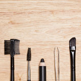 Set of eyebrow grooming tools with copy space Stock Image