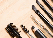 Set of eyebrow grooming tools with copy space Stock Photography