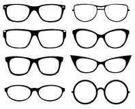 Set of eyeglasses Stock Photos