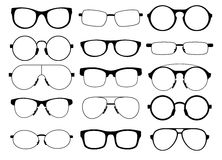 Set of eyeglasses Royalty Free Stock Photos
