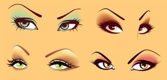 Set of eyes Vector Illustration