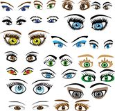 Set of eyes Royalty Free Stock Photo