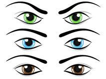 Set of eyes Stock Photo