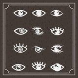 set eyes design Royalty Free Stock Image