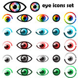 Set of eyes icons and symbols Royalty Free Stock Photos