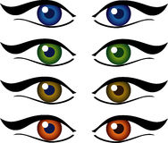 Set of eyes illustration Stock Photo