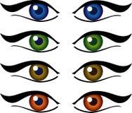 Set of eyes illustration Stock Photo