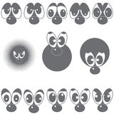 A set of eyes with a nose Stock Photography