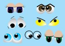 Set of eyes.  vector Royalty Free Stock Photos