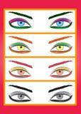 Set of eyes. Royalty Free Stock Image