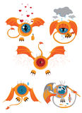 A set of eyes with wings, an avatar with emotions Royalty Free Stock Photo