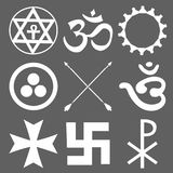 Set ezoteryczni symbole Obrazy Stock