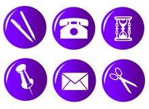 set för 104 symbol royaltyfri illustrationer