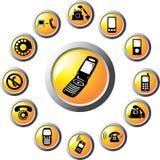 set för 115 telefoner för knappar c Arkivfoto