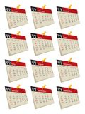 set för 2011 kalender Royaltyfria Foton