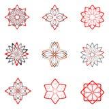 set för 5 dekorativ designelement Arkivfoto