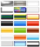 set för 6 knapp Vektor Illustrationer