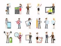 set för affärsfolk vektor illustrationer