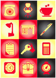 set för affärssymbolsoriginal Arkivbilder