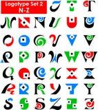set för alfabeteps-logo Arkivbild
