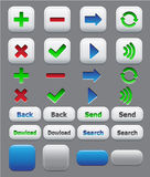 Set för applikationsymbolsfärg Arkivfoto